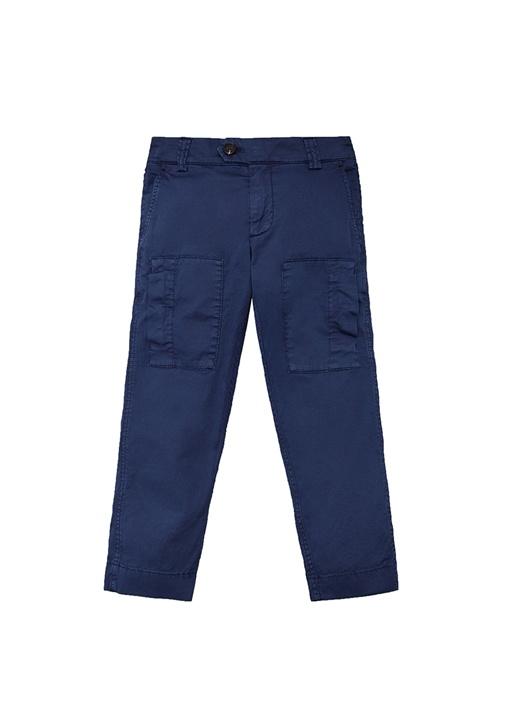 Pima Cotton Mavi Erkek Çocuk Pantolon