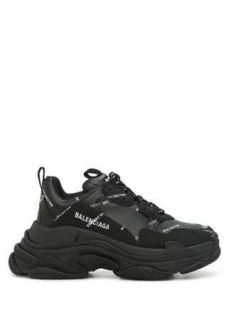Balenciaga Kadın Triple S Siyah Logo Baskılı Sneaker 36 EU