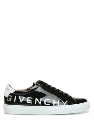 Givenchy Erkek Siyah Logo Baskılı Rugan Sneaker 44 EU male