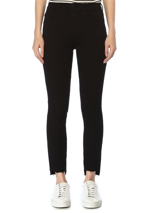 Jeanne Siyah Normal Bel Skinny Jean Pantolon