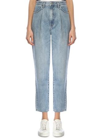 J Brand Kadın Yüksek Bel Pilili Boru Paça Jean Pantolon Mavi 27 US female