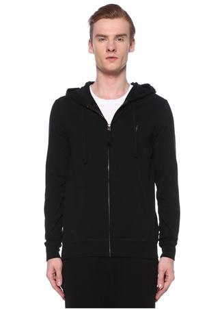 Allsaints Erkek Brace Siyah Kapüşonlu Sweatshirt XL EU male