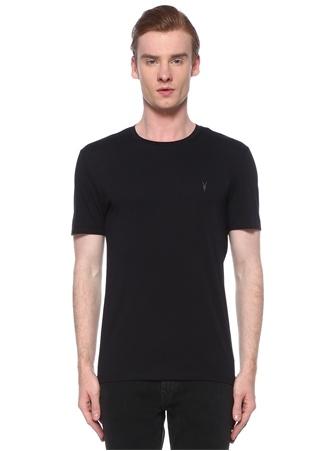 Allsaints Erkek Ink Lacivert Logo İşlemeli Basic T-shirt XS EU male