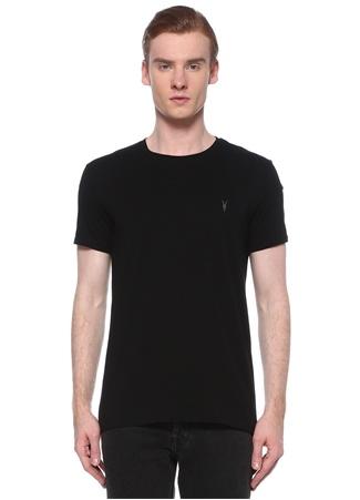 Allsaints Erkek Tonic Siyah Logo İşlemeli Basic T-shirt XS EU male
