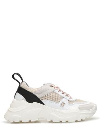 Zadig&Voltaire Kadın Beyaz Bej File Garnili Deri Sneaker 40 FR female