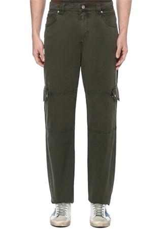 Zadig&Voltaire Erkek Polly Haki Normal Bel Kanvas Pantolon 44 IT male