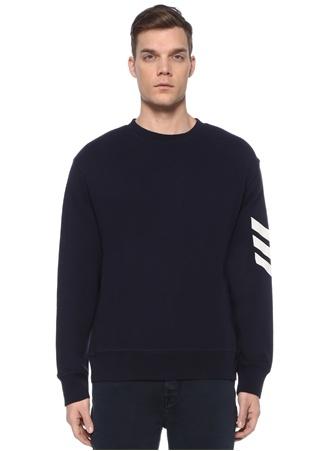 Zadig&Voltaire Erkek Lacivert Baskı Detaylı Sweatshirt EU male