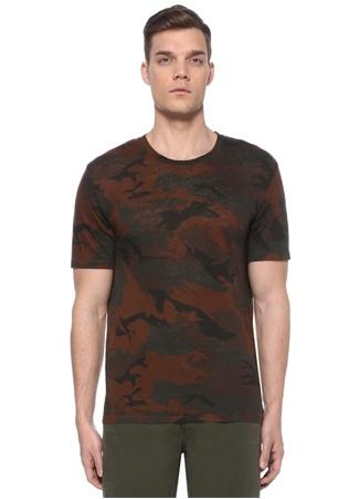 Zadig&Voltaire Erkek Kamuflaj Desenli Keten T-shirt Haki XL EU male