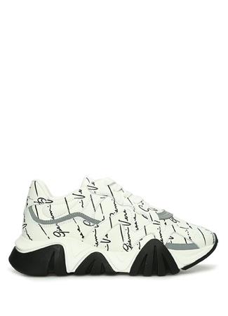 Versace Kadın Beyaz Logo Baskılı Deri Sneaker 36 EU female