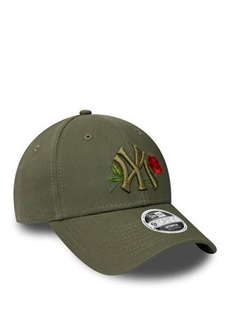 New Era Kadın Yankees Haki Gül Nakışlı Şapka Yeşil EU female Standart