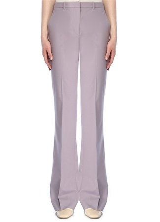 Theory Kadın Demitria Lila Düşük Bel Bol Paça Yün Pantolon Mor 4 US female