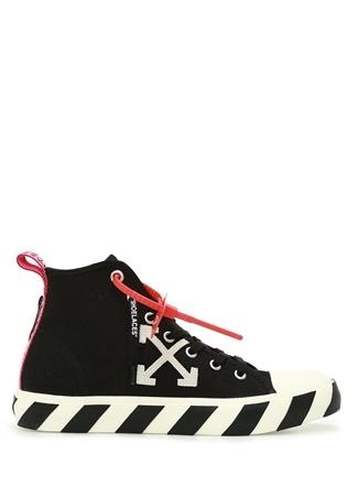 Off-White Erkek Siyah Beyaz Şerit Detaylı Deri Sneaker 40 EU male