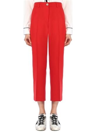 Golden Goose Kadın Marta Kırmızı Beyaz Biyeli Crop Pantolon 44 IT female