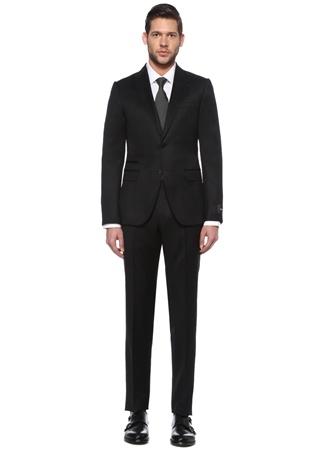Z Zegna Erkek Drop 8 Siyah Kelebek Yaka Yün Takım Elbise 48 IT male