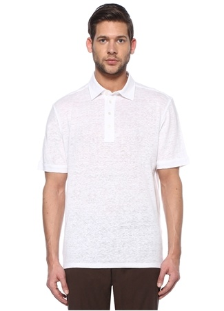 Zegna Erkek Beyaz Polo Yaka T-shirt 48 IT male