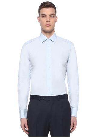Mavi Modern Yaka Gömlek