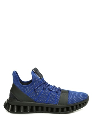 Z Zegna Erkek Mavi Siyah Taban Detaylı Sneaker 9 UK male