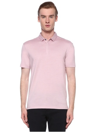 John Varvatos Erkek Pembe Polo Yaka T-shirt XL EU male