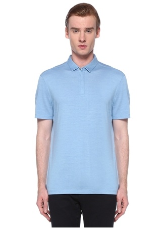 John Varvatos Erkek Mavi Polo Yaka T-shirt XL EU male