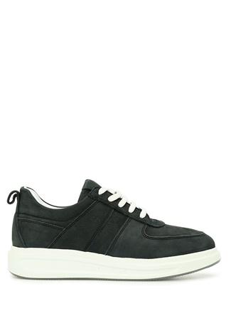 Beymen Collection Kadın Antrasit Deri Sneaker Gri 37 female