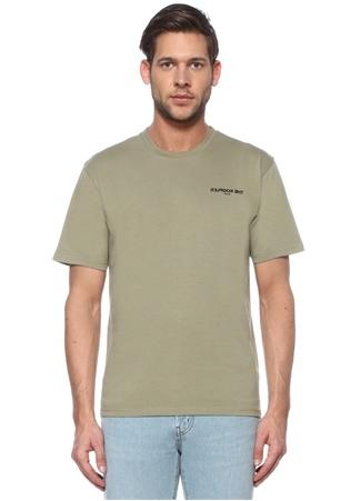 The Kooples Erkek Haki Ters Logo Baskılı T-shirt S EU male