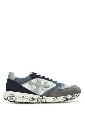 Premiata Erkek Zaczac 463 Gri Mavi Taban Detaylı Sneaker Beyaz 40 EU male