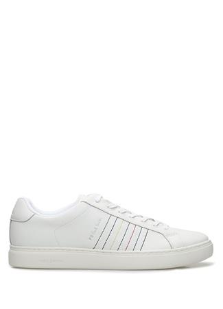 PS by Paul Smith Erkek Rex Beyaz Renkli Dekoratif Dikişli Sneaker 9 UK male