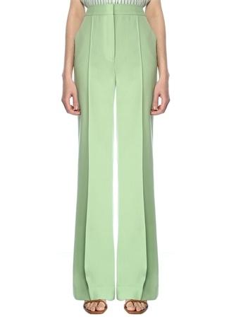 Victoria by Beckham Kadın Yeşil Yüksek Bel Bol Paça Pantolon 8 US