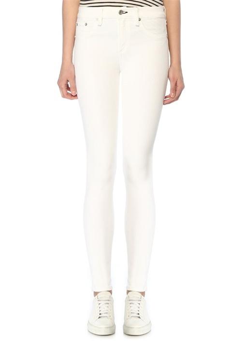 Cate Beyaz Normal Bel Skinny Jean Pantolon