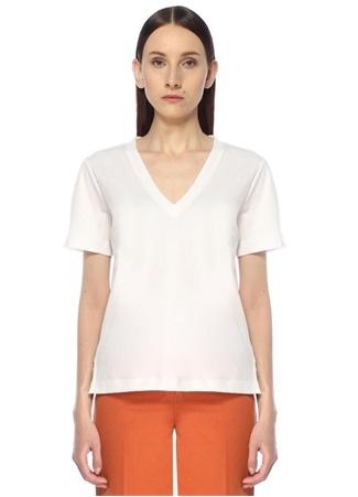 Beymen Club Kadın Beyaz V Yaka Basic T-shirt XL female