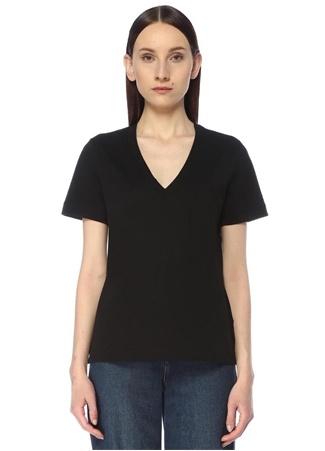 Beymen Club Kadın Siyah V Yaka Basic T-shirt XS female