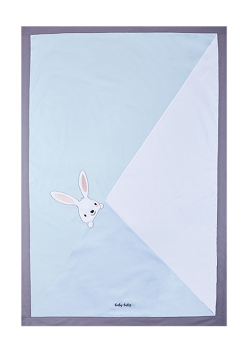 Mavi Tavşan Detaylı Yatak Örtüsü