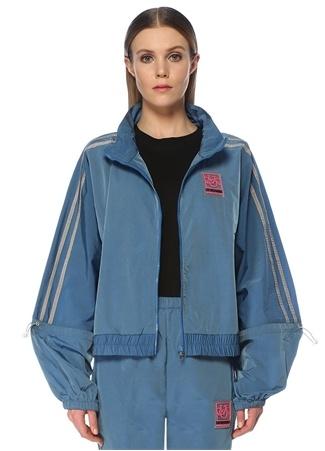 Les Benjamins Kadın Oversize Mavi Arkası Kesim Detaylı Ceket EU female