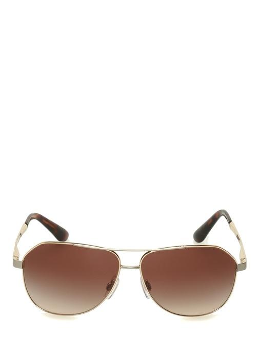 Kahverengi Pilot Stil Kadın Güneş Gözlüğü