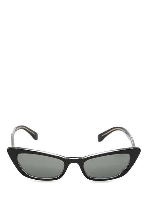 Gri Yuvarlak Formlu Kadın Güneş Gözlüğü