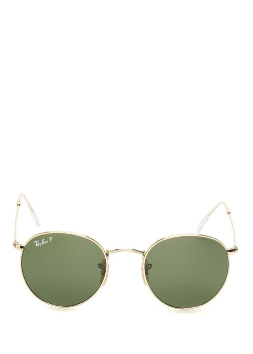 Yeşil Yuvarlak Formlu Erkek Güneş Gözlüğü