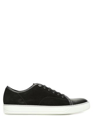 Lanvin Erkek Siyah Garnili Süet Sneaker 7 UK male