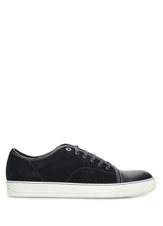 Lanvin Erkek Lacivert Garnili Süet Sneaker UK male 10
