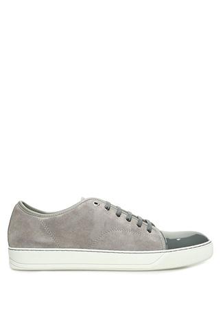 Lanvin Erkek Gri Garnili Süet Sneaker 5 UK male