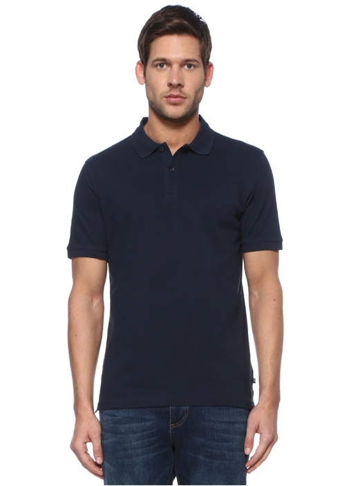 Extra Slim Fit Lacivert Polo Yaka T-shirt
