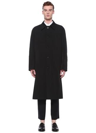 Wooyoungmi Erkek Siyah Polo Yaka Palto 46 IT male