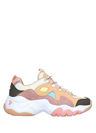 Skechers Kadın D Lites 3 Brave Output Colorblocked Sneaker 39 EU Çok Renkli female