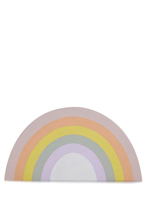Iris Gökkuşağı Formlu Ahşap Blok