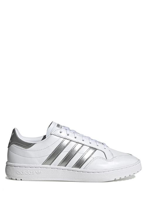 Team Court Beyaz Silver Kadın Deri Sneaker