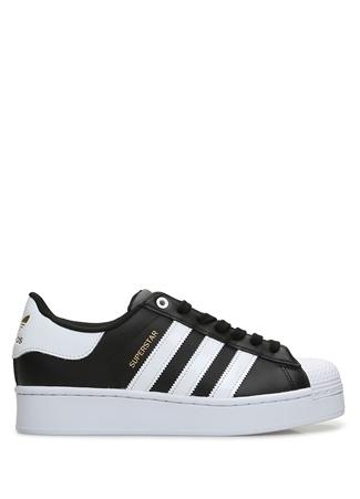 Adidas Kadın Superstar Bold Siyah Beyaz Sneaker 7 UK female