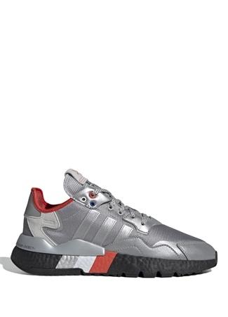 Adidas Erkek Nite Jogger Silver Logolu Sneaker Gri UK male 10