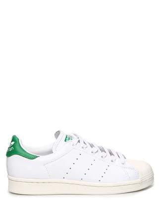 Adidas Kadın Superstar Beyaz Yeşil Deri Sneaker 4.5 UK female