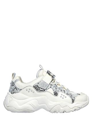 Skechers Kadın D Lites 3 Silver Bej Sneaker 36.5 EU female