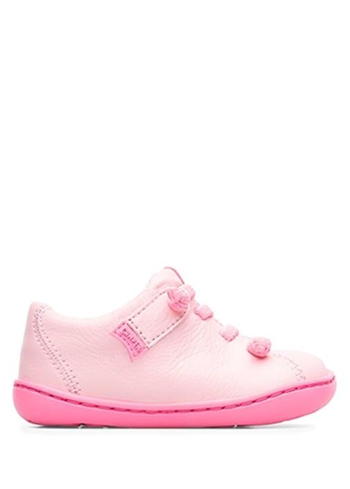 Peu Neon Pembe Kız Bebek Deri Sneaker