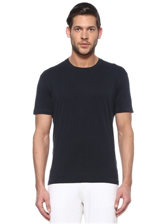 Tom Ford Erkek Lacivert Basic T-shirt 50 IT male